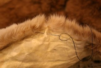 Sewing Rabbit Hides