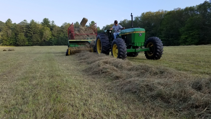 Baling Hay On The Homestead
