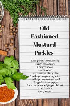 old fashioned mustard pickles recipe