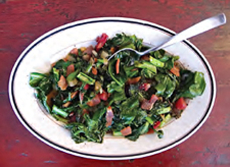Maple Bacon Greens