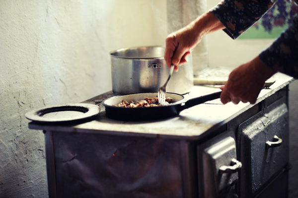 Heat and Eat on a Wood-Burning Cook Stove