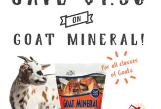 MannaPro $1.50 Off Goat Mineral 8 lb.